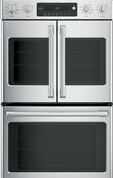 GE Cafe Series 30 Slide-In Front Control Induction and Convection Double Oven Range